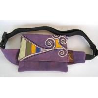 Purple belt bag - Spirals