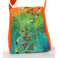 Unique painted bag - Spirals collection