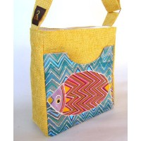 Unique painted bag - Fish