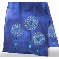 Unique , painted scarf - Flowers collection