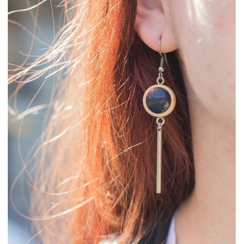 Wood-based earring