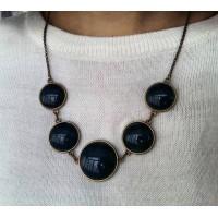 Bronze-based necklace