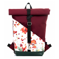 Roll-top backpack - Foxes
