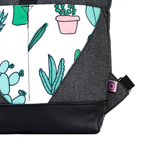 Roll-top backpack - Cactus