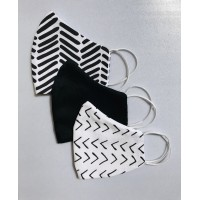 Personalized masks - 3 piece set - Black and White