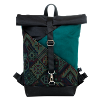 Roll-top backpack - Tealness