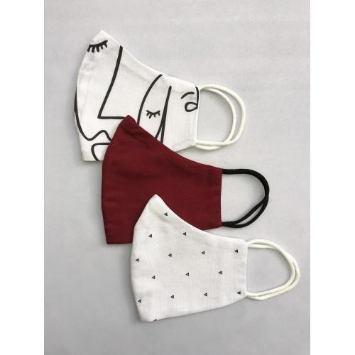 Personalized masks - 3 piece set - French minimalism