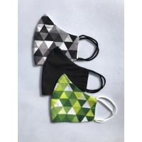 Personalized masks - 3 piece set - Geometrically correct